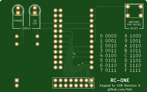RC-ONE Keypad MX (USB adapter)