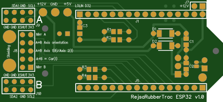 RejsaRubberTrac - - ESP32-version v1.0