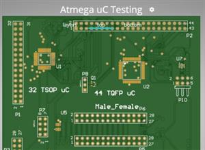 Atmega uC testing