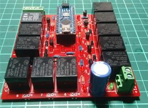 Smart Stairs Lighting + MZ80+ Arduino With 11 relays chart... / 11 ROLELi Arduino ROLE KARTI+MZ80 iLE  AKILLI MERDiVEN AYDINLATMA
