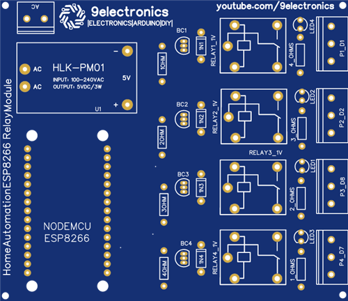 HOME AUTOMATION 4 channel with nodemode esp8266
