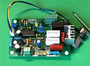 Simple speed control on the TDA1085 chip.