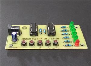 Módulo TEST para circuitos integrados TX-2B / RX-2B