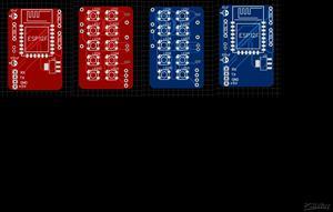 WS2812b ESP8266 PCB