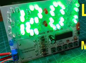 LED Digital Clock Without any microcontroller