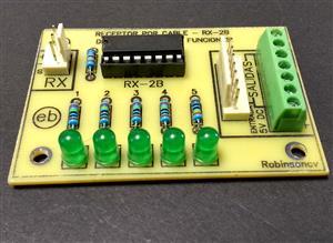 RECEPTOR por cable de 5 funciones con el RX-2B
