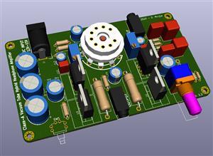 Class-A Vacuum Tube Hybrid Headphone Amplifier