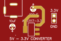 AMS1117 BASED VOLTAGE CONVERTER INTO 3V