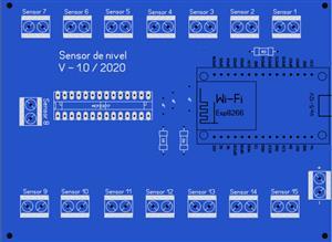 15-way level sensor / extender- Esp8266 Wi-fi