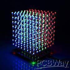 amazing led cube   8×8×8