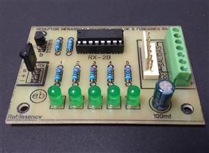 RECEPTOR infrarrojo de 5 funciones con el RX-2B