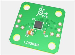 LIS3DSH evaluation board