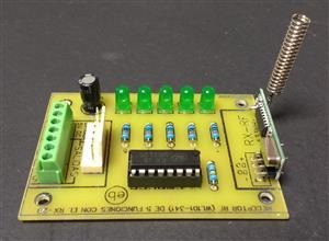 RECEPTOR - Control de radiofrecuencia  (WL101-341) de 5 funciones con el RX-2B