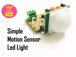 Simple Motion Sensor Light! (PIR)