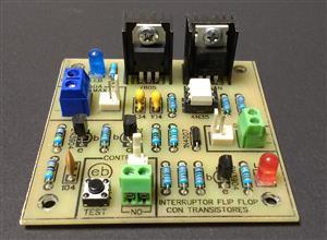 Interruptor Flip Flop con transistores y un pulsador