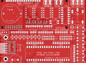FULL AVR Development Board Trainer Kit