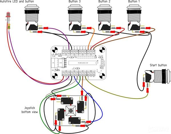 [SCHEMATICS_4LK]  J-ACE Arcade Controls Encoder - Share Project - PCBWay   Arcade Button Wiring Diagram      PCBWay