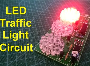Traffic Light using 4017 and 555 IC