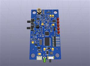 Compact 433 MHz walkie-talkie based on MRF49XA transceiver