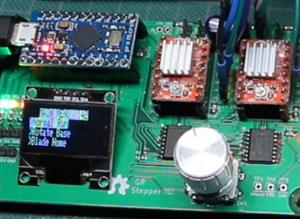 Dual Stepper A4988 Driver with OLED Display and Rotary Encoder Menu