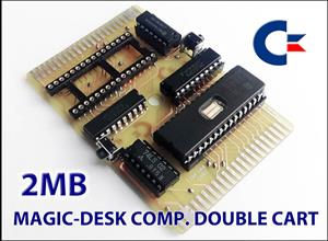 C64  2MB DOUBLE CARTRIDGE (TWIN CART)
