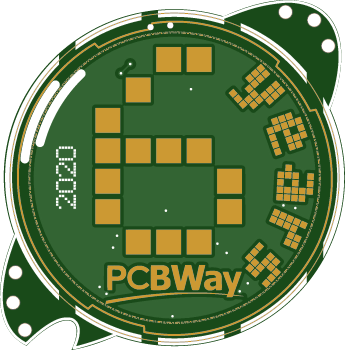 The 6th anniversary official badge PCBWay