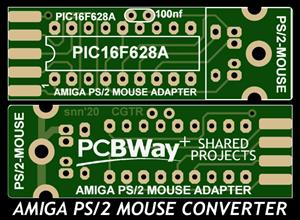 AMIGA PS/2 MOUSE CONVERTER (ADAPTER) - PIC16F628(A)