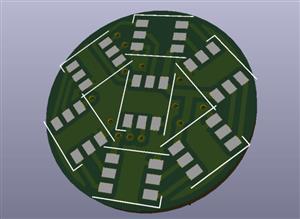 7 x SMD RGB LED APA102C 5050 CIRCLE 24mm