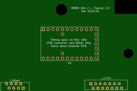 HHKB Lite 2 - Teensy 2.0 controller