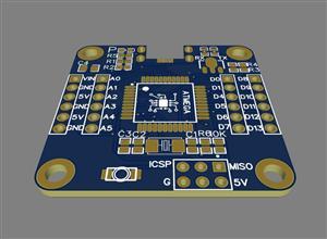 Microcontroller minimum system-ATMEGA32U4