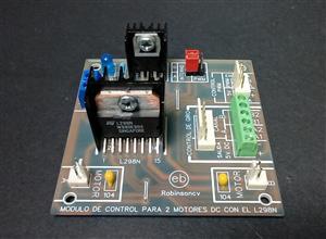 Módulo de control para 2 motores DC con el circuito integrado L298N