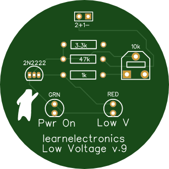 Learnelectronics Low Voltage Indicator