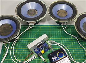 PCBWay Amplificador de AUDIO de 4 Canales Con TDA7388