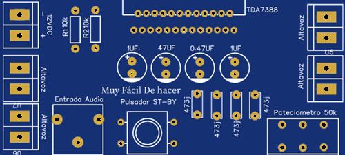 Amplificador de AUDIO de 4 Canales Con TDA7388