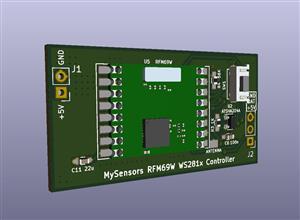 RFM69W WS281x LED strip controller