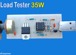 diy USB Load Tester  35W using Tip122 Transistor