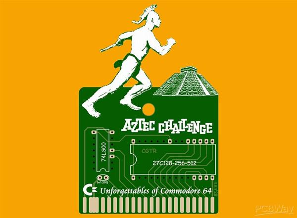 AZTEC CHALLENGE GAME CARTRIDGE FOR COMMODORE 64