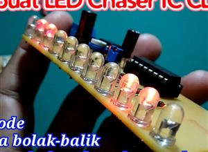 Led Chaser CD4017, LED KNIGHT RIDER dual mode