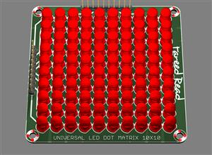 Universal led dot matrix 10x10
