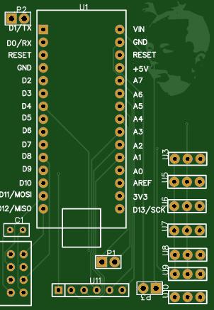 Receiver card for arduino nano