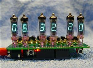 IV-3, IV-6 VFD display clock Shield for Arduino