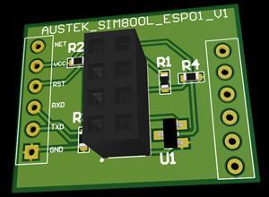 SIMPLE ESP01 ADAPTER FOR SIM800L PINOUT