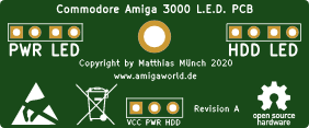 Commodore Amiga 3000 LED PCB