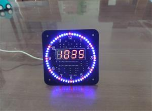 Rotating LED electronic clock