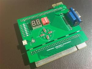 Custom POST card with PCI and PCIe connectors