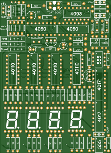 Non Contact Tachometer Without Microcontroller