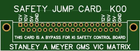Stanley A Meyer Safety Control Card Jumper DB 37 k00