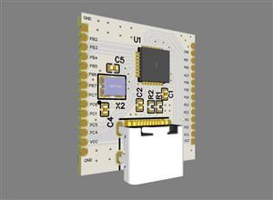 Atmega 32 small development board