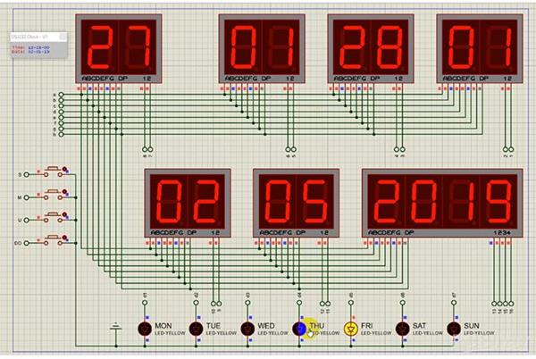 Jam Digital dengan seven segment berbasis arduino.