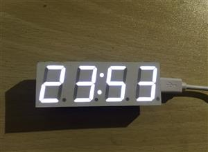 LED electronic clock 0.8 inch